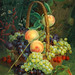 "Christine Marie Lovmand  (Danish, 1803-1872), ""Basket with Grapes and Cherries"""