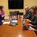 UN Women Executive Director Michelle Bachelet meets with Mervat Tallawy, President of the Egypcian National Council of Women