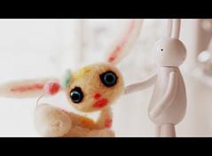 Bunny love.... (The Dolly Mama) Tags: rabbit bunny art toys handmade lapin petit mrclement violetpie