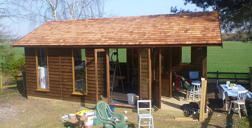 Shed taking shape