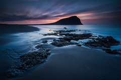 La Tejita Dawn [Explore] (Michael Bolognesi) Tags: longexposure blue seascape mountains beach sunrise canon landscape dawn islands spain playa canarias 7d tenerife canary montaa hitech roja medano tejita granadilladeabona bigstopper