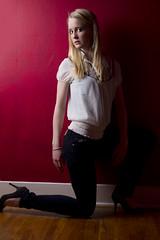 Kelsey (austinspace) Tags: portrait woman studio washington spokane blond blonde backdrop alienbees