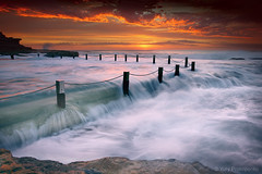 Sunrise @ Mahon Pool (-yury-) Tags: ocean sea motion beach nature water pool sunrise photography australia nsw maroubra hightide mahonpool