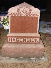 Hagensick family headstone (Philip Weiss) Tags: grave genealogy mcgregoriowa pleasantgrovecemetery