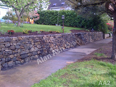 WM AA2, Alan Ash, Retaining wall, dry laid stone construction, copyright 2014