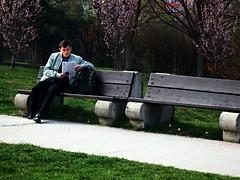 Reader and Spring (Kojotisko) Tags: street people brno cc creativecommons czechrepublic streetphoto persons