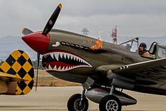 P-40N_20 (SamOphoto2011) Tags: california canon airplanes airshow curtis chino planesoffame 2016 p40nwarhawk 7dmarkii 100400lmarkii
