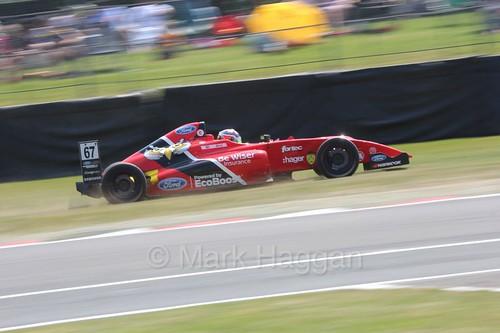 Frank Bird in British Formula Four during the BTCC weekend at Oulton Park, June 2016