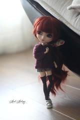 A cold day. (Avah Andersen) Tags: cozy eyes acrylic auburn redhead wig pullip custom custo alte eyechips