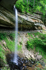 Chain Mill Falls Side Shot (Mark Birkle) Tags: county ohio summer cliff fall mill water beautiful stone creek river photo waterfall spring big dangerous stream image scenic picture large indiana chain hidden waterfalls valley jefferson tall flowing hanover biggest township largest tallest chainmill