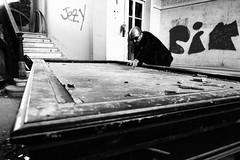 Billar francs (Juan Jos Bors) Tags: portrait man male abandoned pool book retrato decay asturias cine movies actor billiard hombre luarca billar misterioso misterious urbex valds carambola barcia retratomasculino localizaciones barcellina juanjosbors kikodrudis