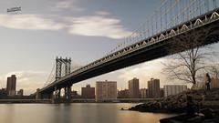 Manhattan Bridge (La Sociedad Heliogrfica) Tags: nyc newyorkcity longexposure bridge sunset sea usa brooklyn puente manhattan dumbo sunny puentes citylandscape sonya7ii