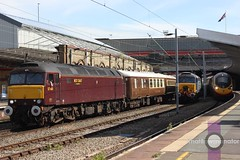 Two Empty Stocks. (Luke Bowman's photography) Tags: west station coast rail railway trains class virgin company crewe alstom services vt direct 57 390 573 pendolino drs 576 57601 wcrc 57308 390104