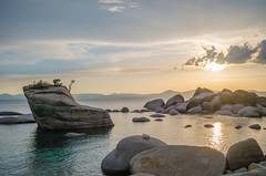 Amazing colors of lake Tahoe at Bonsai Rock (naveencseceg) Tags: california lake nikon weekend tahoe laketahoe roadtrip filter nd bonsai longweekend neutraldensity bonsairock nikond5100