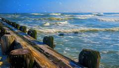 Waves (veyoung52) Tags: ocean atlanticcity waves pilings piers