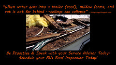 roofinspect (veurinksrv) Tags: windows roof wheel doors inspection safety seal maintenance trailer rv 5th protection seam motorhome fifth bearing alignment axle caulk repack preventative slideouts rvservice rvmaintenance