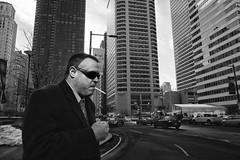 15th Street, 2016 (Alan Barr) Tags: street people blackandwhite bw philadelphia monochrome mono blackwhite cigarette candid streetphotography sp streetphoto gr ricoh 15thstreet