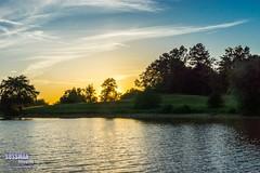 Lanier Point Park Sunset (The Suss-Man (Mike)) Tags: trees sunset sky lake nature water clouds georgia unitedstates gainesville coveredbridge lanier lakelanier hallcounty thesussman sonyslta77 sussmanimaging lanierpointpark lanierpoint