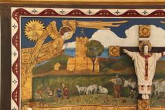 Angle, Pembrokeshire (Vitrearum (Allan Barton)) Tags: angel fishermen angle charnelhouse pembrokeshire artsandcrafts pembrokshire chantry reredos christinmajesty fishermanschapel johncoatescarter fishermanschape