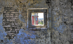 Old Fortress Window, Corfu (WarEagle8608) Tags: old summer vacation tower clock window composition canon greek eos rebel islands kiss clocktower greece venetian greekislands corfu fortress isles hdr highdynamicrange summervacation x4 ioniansea ionian corfugreece greekisles bracketed oldfortress 550d venetianfortress t2i  krkyra eoskissx4 canoneos550d eos550d canoneosrebelt2i rebelt2i canoneoskissx4 eosrebelt2i oldfortresscorfu oldfortresswindow