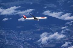 AIR TO AIR (domingo_95) Tags: plane canon airplane landscape switzerland airport europe swiss aircraft altitude aviation air zurich boeing 777 zrh planespotting lszh wingview planespotter air2air avgeek 60d 55250 aviationgeek