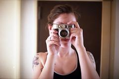film (La fille renne) Tags: camera portrait selfportrait film analog 35mm mirror grain fujifilm expired voigtlnder expiredfilm fujisuperia200 50mmf2 voigtlndervitomaticiia lafillerenne