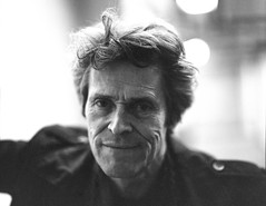 I was able to get a portrait of Willem Dafoe after a Q & A in Cleveland Ohio for a new film he was premiering. (andrewethomp) Tags: lighting portrait film mediumformat pentax kodak indoor smokey 6x7 pushed willem windowlight dafoe willemdafoe pentax6x7 pentax67