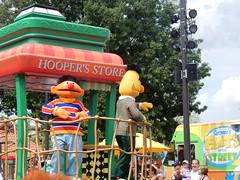 ernie & bert in the parade (pompomflipflop) Tags: sesameplace parade characters ernie bert sesamestreet