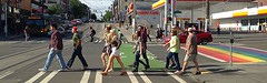 Streets and public spaces can be reimagined for inclusiveness and enjoyment. (Seattle Department of Transportation) Tags: seattle street bus green bike rainbow community colorful crossing lane transportation pedestrians pike streetcar walkers capitolhill caphill sdot donghochang