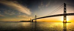 San Fransican Dawn (Lee Carus) Tags: california bridge sky clouds america dawn golden bay us san francisco sony 7 hour nex fransican