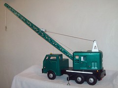 102_0726 (jatheb) Tags: mobile construction model crane mining equipment marx collectible tonka contractors drillrig waterwell blasthole buddyl lumar pressedsteeltruck