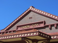 The old D & RG Station (Patricia Henschen) Tags: canoncitycolorado depot drg railroadstation usroute50