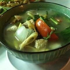 ต้มยำไก่บ้าน | Chicken Tom Yum Soup @ เนเน่ ปลาเผา เจ็ดยอด | Ne Ne