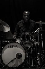 (mauspray) Tags: portrait blackandwhite italy musician music black nikon theatre drum live concerto drummer ritratto cymbals batteria biancoenero abruzzo musicista cassa piatti blackmusic d300 mattbianco ortona batterista rullante tratro 180mmf28ed fixedshadows teatrovittoria