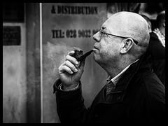 Dreaming of Saint Patrick (Feldore) Tags: ireland irish man look concentration looking smoke profile pipe belfast smoking northern mchugh contemplation feldore