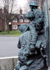 War Memorial soldiers group - Jan 2009 (DizDiz) Tags: uk england sculpture warmemorial wirral modelvillage portsunlight lordleverhulme olympusc720uz sirwgoscombejohn