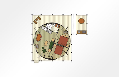 Shenandoah Crossing™ 2-Bedroom Yurt - 706 sq ft