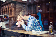 Anna & Iain (joannablu kitchener) Tags: love coffee 50mm engagement nikon couple edinburgh coffeeshop milkshake scotlan dylank d700 joannablu kitchenerphotography