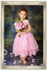 (MissSmile) Tags: pink portrait color girl beauty studio kid child framed memories adorable royal frame delicate