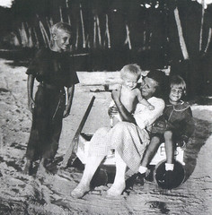 Gertrude Hornbostel and Children