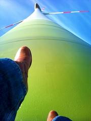 walking on the windmill (Jos Mecklenfeld) Tags: cameraphone sky feet me windmill germany walking fun deutschland boots wandelen lol air cellphone mobilephone lopen duitsland windmolen emsland haren niedersachsen hahnentange picsaypro sonyericssonxperiax10