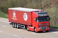 DAF XF BX54 PNZ (gylesnikki) Tags: red truck artic carljbrogan