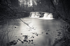 Solitude in the city (strachcall) Tags: longexposure bw water rock river landscape flow scotland blackwhite waterfall glasgow smooth whitecart linnpark bw10stopndfilter