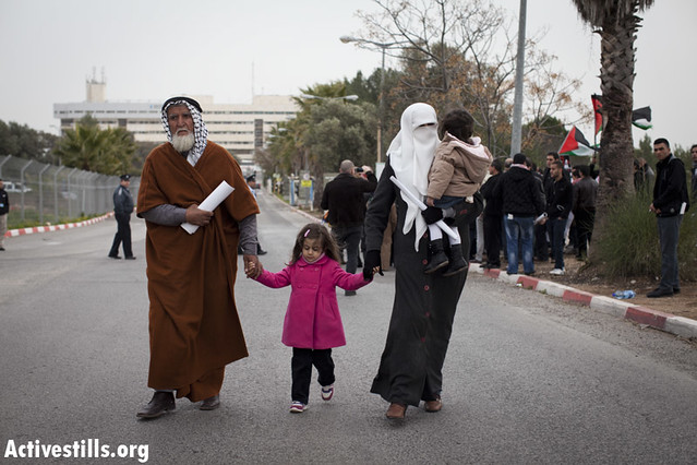 Solidarity with Prisoner Khader Adnan, Ziv Hospital, Safed, Israel, 15.2.2012