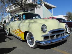 1949 Chevrolet Fleetline (bballchico) Tags: detail chevrolet design paint flame 1949 pinstripe fleetline gnrs2012 grandnationalroadstershow2012 ronsokoloski photobballchico2012