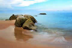 Stones-and-Sea (TA.D) Tags: travel sea sky cloud art water stone landscape nikon asia wave vietnam tad binhthuan d700