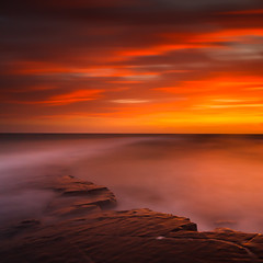 Kimmeridge Sunset [EXPLORED] (Timo Lieber) Tags: longexposure sunset rocks waves le lee ledge dorset kimmeridge bigstopperkimmeridgedorsetledgerockswaveslelongexposuresunsetleebigstopper