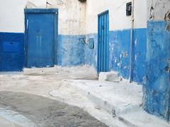 Les Oudayas (jac....) Tags: street blue maroc marocco rue rabat oudayas oudaya