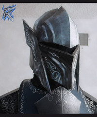 Skyrim Ebony Helmet (Tsabo Tsaboc) Tags: game metal paper real video dragon mask mail helmet xbox 360 chain foam armor priest ebony pvc skyrim