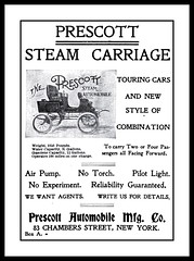 1901 The Prescott Steam Carriage  by Prescott Automobile Mfg. Co,  New York (carlylehold) Tags: new york opportunity ny newyork robert car mobile by automobile carriage email steam smartphone join co tmobile steamer prescott keeper 1901 signup mfg haefner carlylehold solavei haefnerwirelessgmailcom